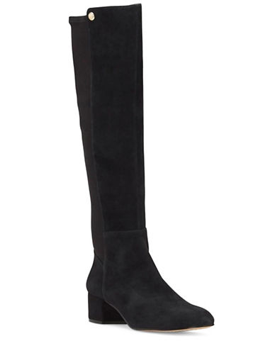 Vince Camuto Lattey Tall Suede Combo Boots-BLACK-6.5