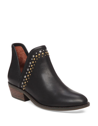 Lucky Brand Kendy Studded Ankle Booties-BLACK-9
