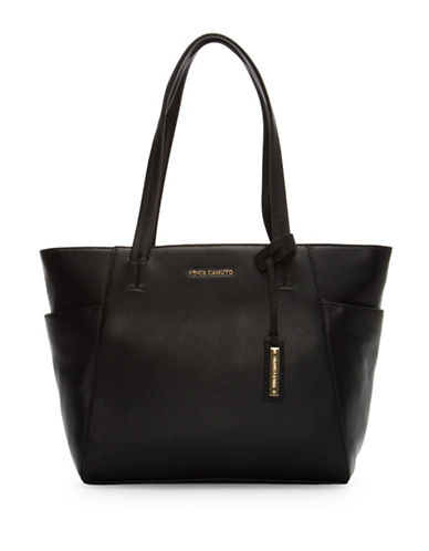 Vince Camuto Stef Leather Tote-BLACK-One Size 88775836_BLACK_One Size