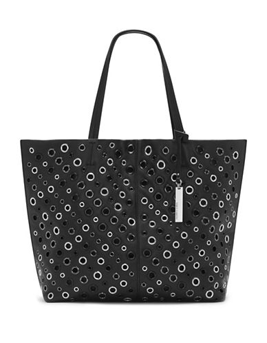 Vince Camuto Leather Grommet Tote-BLACK-One Size 88775815_BLACK_One Size