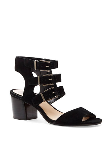Vince Camuto Geriann Suede Sandals-BLACK-8