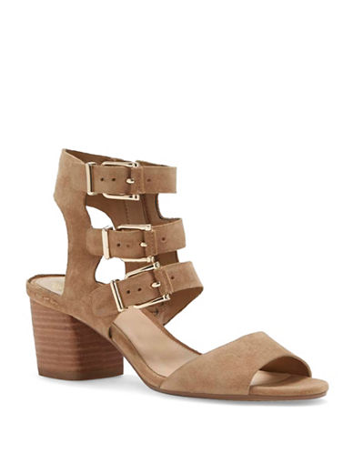 Vince Camuto Geriann Suede Sandals-TAN-8