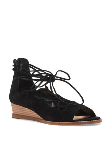 Vince Camuto Rochela Suede Sandals-BLACK-6.5