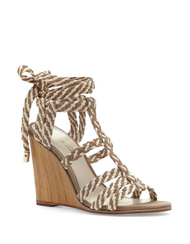 Vince Camuto Magnolia Leather Wedge Sandals-TAN-5.5