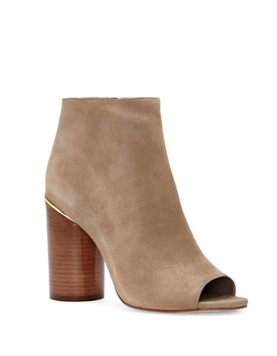 Vince Camuto Reeta Polished Suede Booties-TAN-6