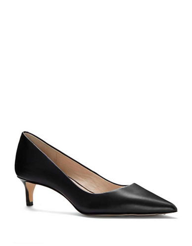 Louise Et Cie Jacoba Point Toe Leather Pumps-BLACK-8