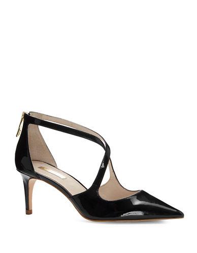 Louise Et Cie Jena Crisscross Heels-BLACK PATENT-7.5