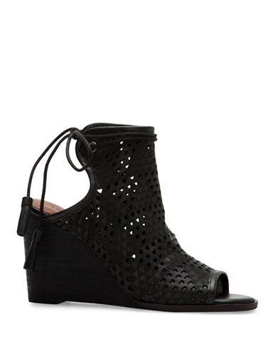 Lucky Brand Riski Lasercut Wedges-BLACK-9.5