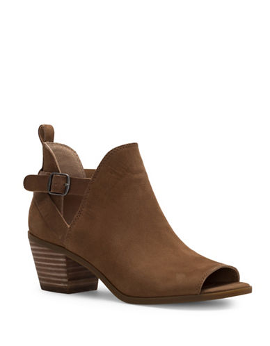 Lucky Brand Banu Leather Booties-BROWN-6