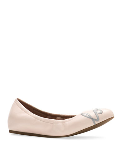 Ed Ellen Degeneres Langston Love Leather Flats-PINK-5