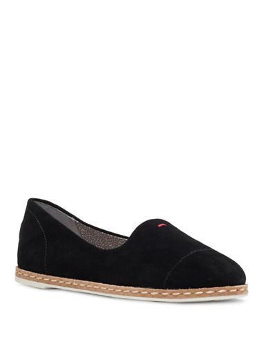 Ed Ellen Degeneres Norana Suede Slip-On Shoes-BLACK-6.5