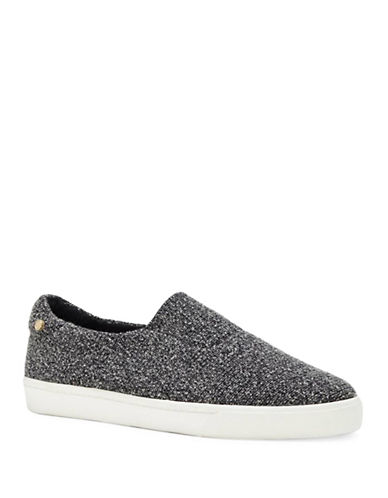 Louise Et Cie Betha Textured Slip-On Sneakers-BLACK-10