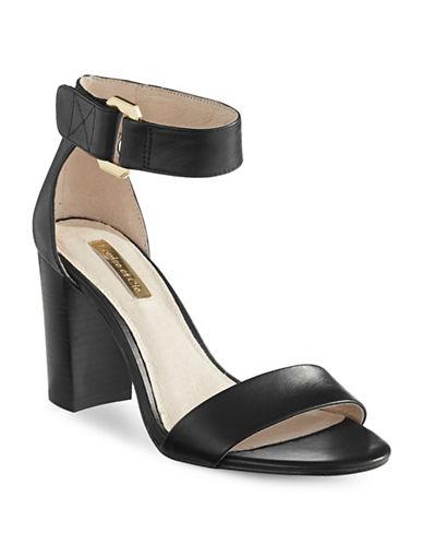 Louise Et Cie Kai Leather Sandals-BLACK-7.5