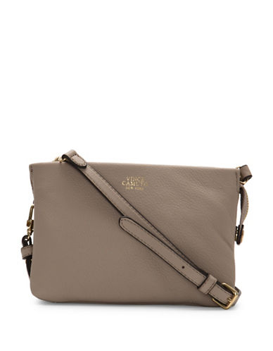 Vince Camuto Cami Leather Crossbody-BEIGE-One Size