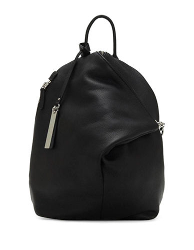 Vince Camuto Vince Giani Leather Backpack-BLACK-One Size