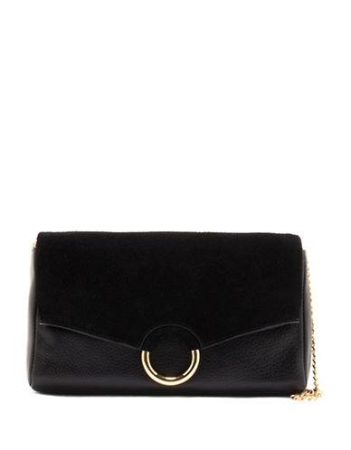 Vince Camuto Adina Leather Crossbody Bag-BLACK-One Size