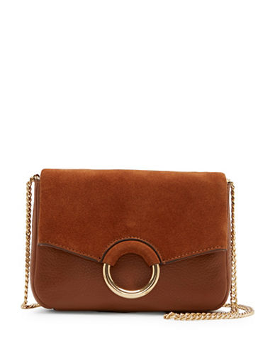 Vince Camuto Adina Leather Crossbody Bag-BROWN-One Size