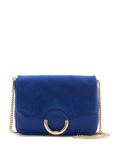 Vince Camuto Adina Leather Crossbody Bag-BLUE-One Size