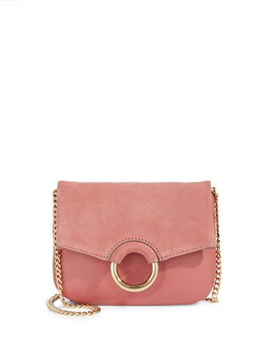 Vince Camuto Adina Leather Crossbody Bag-PINK-One Size