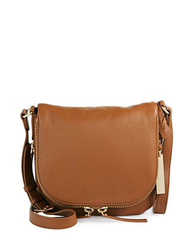 Vince Camuto Baily Leather Crossbody-BROWN-One Size