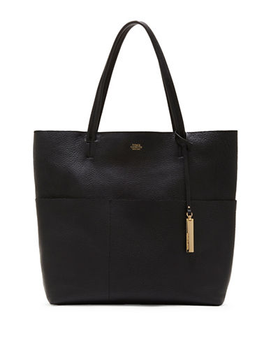 Vince Camuto Risa Leather Tote-BLACK-One Size