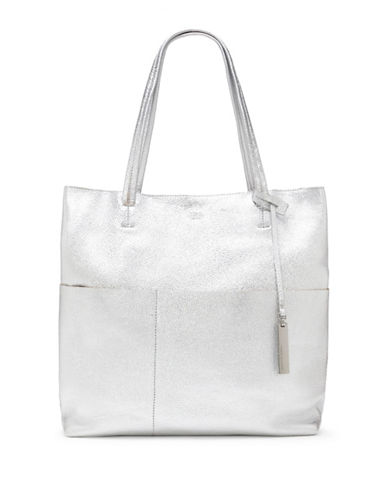 Vince Camuto Risa Leather Tote-SILVER-One Size