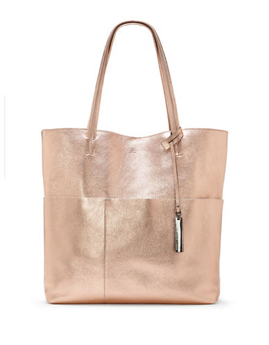 Vince Camuto Risa Leather Tote-ROSE GOLD-One Size