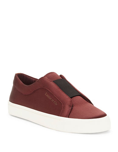 Louise Et Cie Bette Leather Sneakers-BURGUNDY-7.5