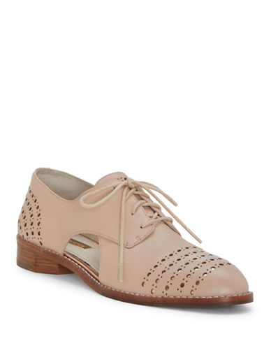 Louise Et Cie Almond Toe Leather Oxford-NUDE-10