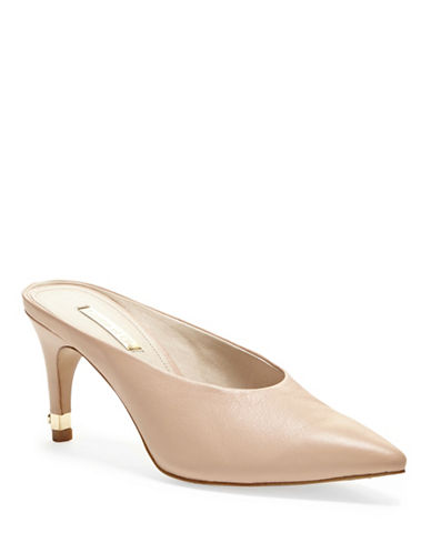 Louise Et Cie Karas Leather Mules-PINK-9.5