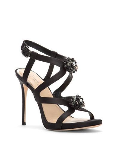 Vince Camuto Daija Satin Stiletto Sandals-BLACK-7