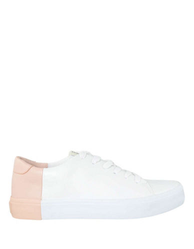 Ed Ellen Degeneres Darien Colourblock Leather Sneakers-WHITE/PINK-6.5