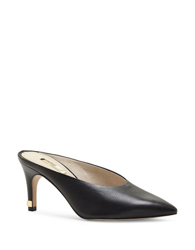 Louise Et Cie Karas Leather Mules-BLACK-8.5