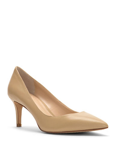 Vince Camuto Tanela Leather Pumps-NUDE-6.5