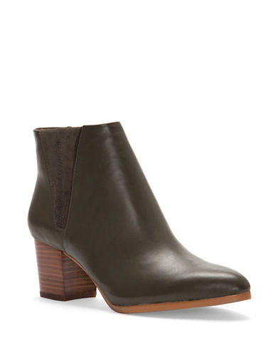 Vince Camuto Brissa Leather Chelsea Ankle Boots-OLIVE-5.5