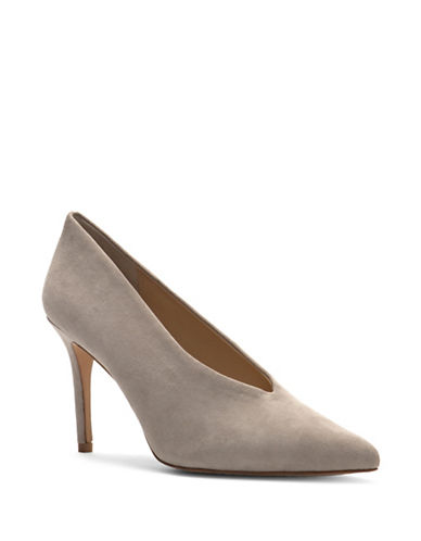 Vince Camuto Ankia Closed Toe Pumps-GREY-7.5