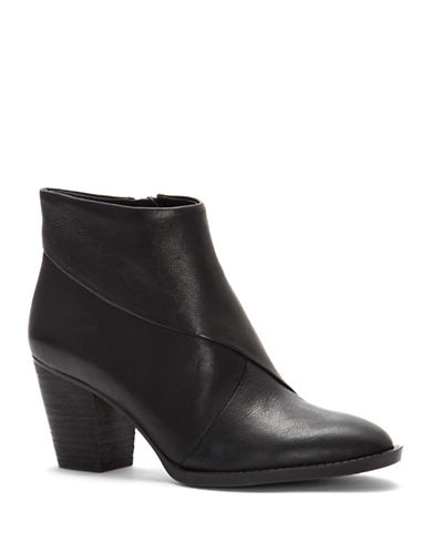 Vince Camuto Bezza Leather Ankle Boots-BLACK-8.5