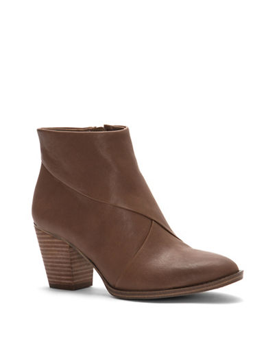 Vince Camuto Bezza Leather Ankle Boots-BROWN-7.5