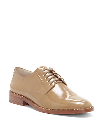 Vince Camuto Loanna Patent Leather Oxfords-NUDE-7