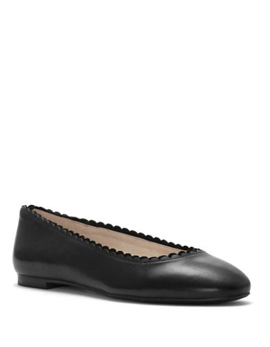 Louise Et Cie Caynlee Leather Ballet Flats-BLACK-8