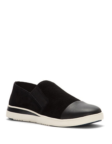 Ed Ellen Degeneres Aviana Suede Slip-On Sneakers-BLACK-9.5