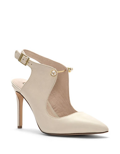 Louise Et Cie Jonah Slingback Leather Pumps-BEIGE-6.5