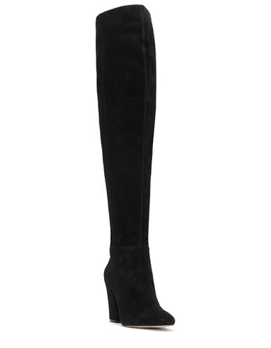 Louise Et Cie Vernon Suede Block Heel Over-the-Knee Boots-BLACK SUEDE-10