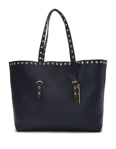 Vince Camuto Areli Leather Tote-BLUE-One Size
