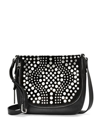 Vince Camuto Bonny Leather Crossbody Bag-BLACK-One Size