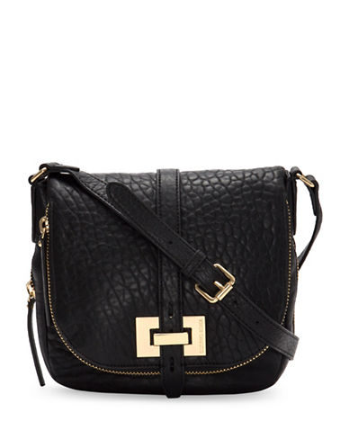 Vince Camuto Leather Crossbody Bag-BLACK-One Size