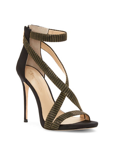 Vince Camuto Devin Satin Stiletto Sandals-BLACK/GOLD-7