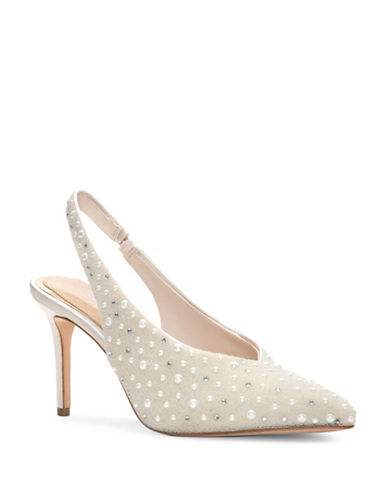 Imagine Vince Camuto Mayran Point Toe Satin Slingbacks-IVORY-7