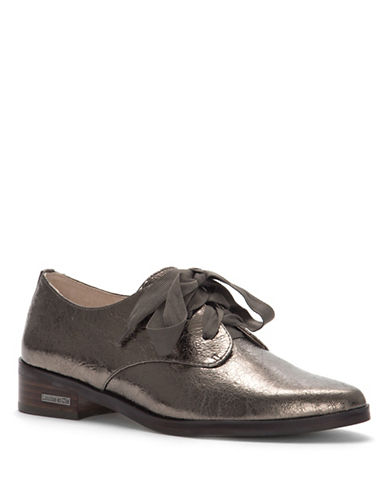 Louise Et Cie Adwin Metallic Leather Oxfords-PEWTER-5.5