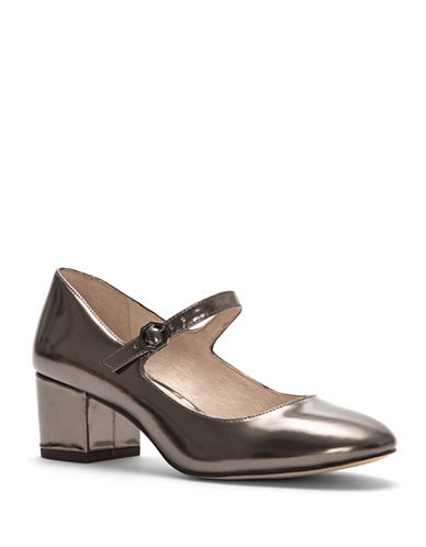 Louise Et Cie Korrie Leather Mary Jane Pumps-GREY-8